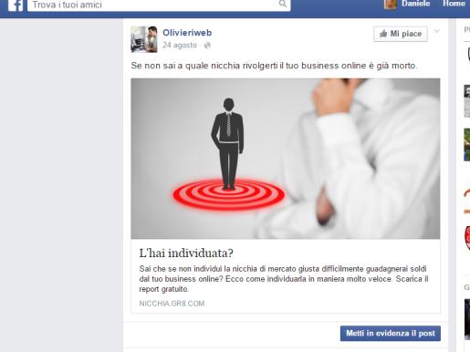imprenditore facebook ads